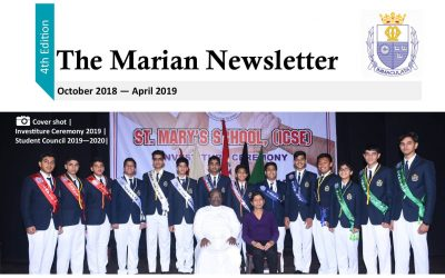The Marian Newsletter for October 2018 – April 2019