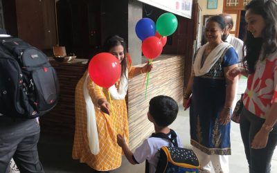 PRE-PRIMARY FIRST DAY AT SCHOOL