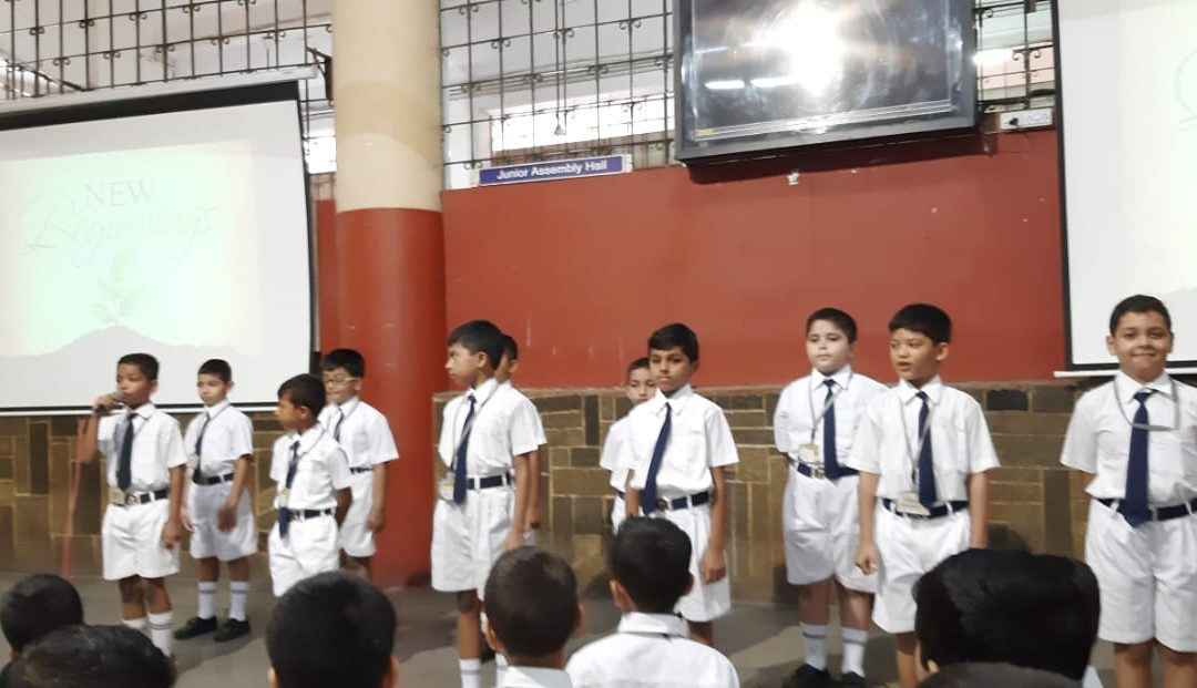 Special assembly-A new beginning..by class 3-1