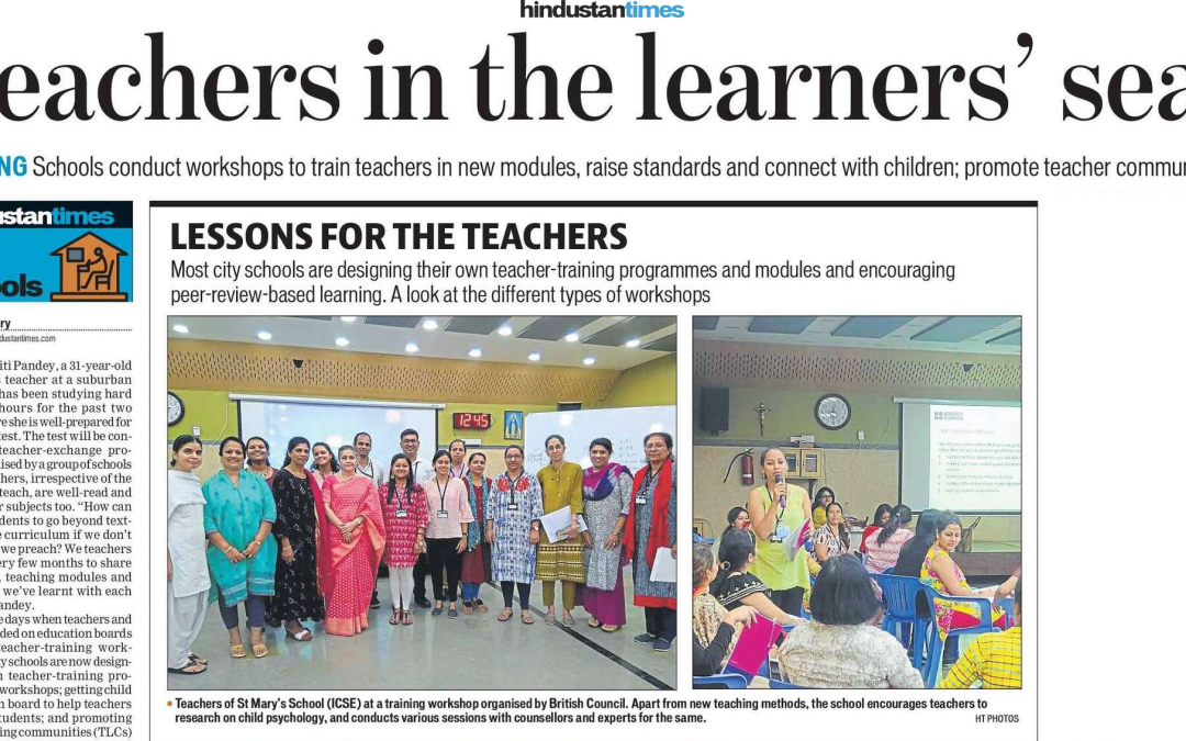 TRAINING Schools conduct workshops to train teachers in new modules, raise standards and connect with children; promote teacher communities.