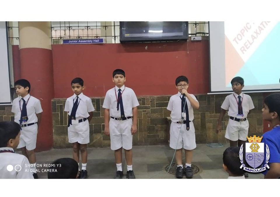 Report  of  Special  Assembly Topic : Relaxation  (Class : 4-3)