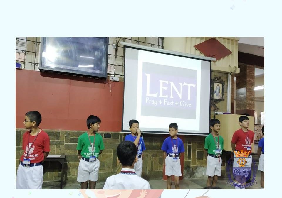 Special Assembly on 'Lent' by Class 4-3