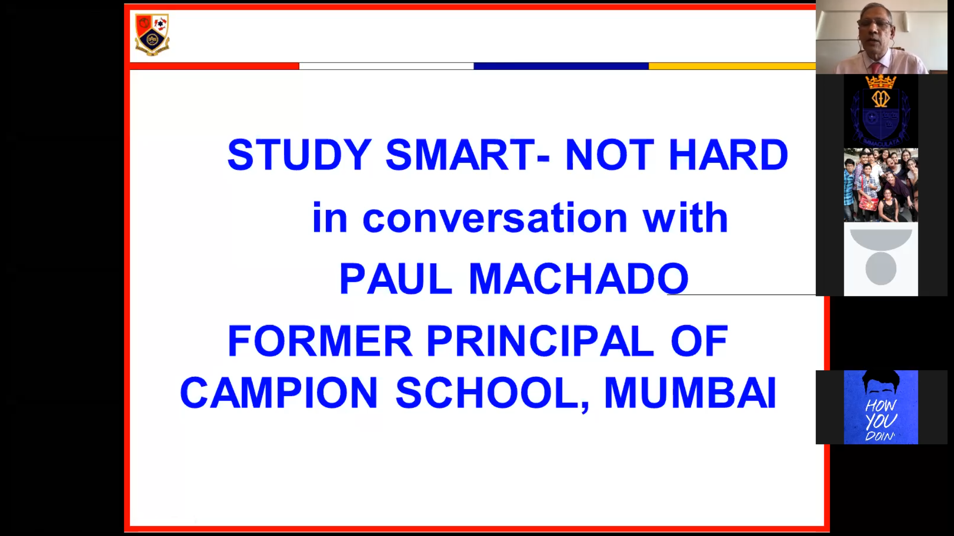 Orientation talk given by Mr. Paul Machado former principal of Campion School.