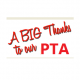 Big thanks to our PTA